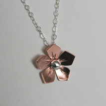 Copper Wild Rose Necklace