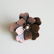 Giant Two Finger Flower Ring