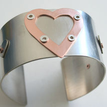 Super Hero Metal Heart Cuff