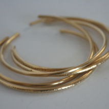 Set of Five Brass Stacking Cuff Bracelets