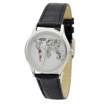 Ladies World Map Watch (Colorful)