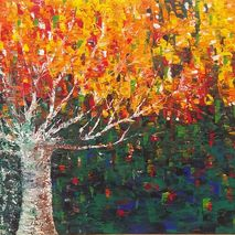 Tree of Fire • Palette Knife Painting 20x30 by Rowan Elisa