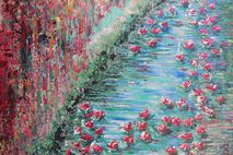Water Lilies - 20x24 painting (made-to-order) - by Rowan Elisa