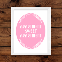 Apartment Sweet Apartment Wall Art Print
