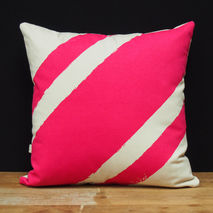 Cushion/Pillow - Stripe Me Pink