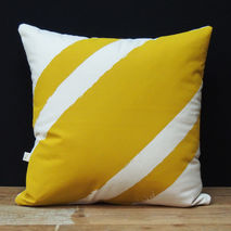 Cushion/Pillow - Stripe Me Yellow