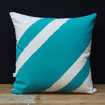 Cushion/Pillow - Stripe Me Mint