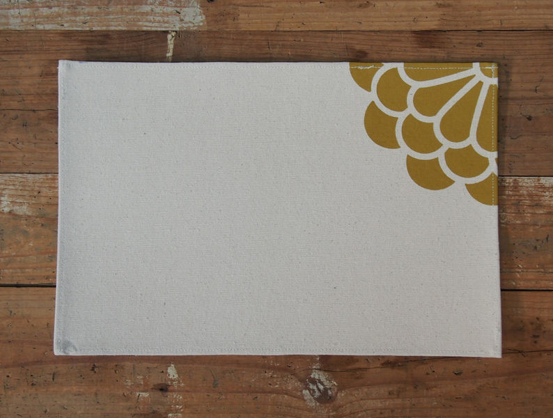 Placemats Yellow Flower Kind Designs Pinklion