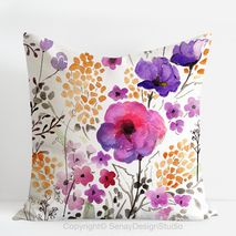 Garden Flowers Pillow Cover