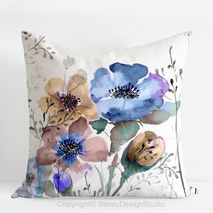 Mountain Flowers Pillow Cover