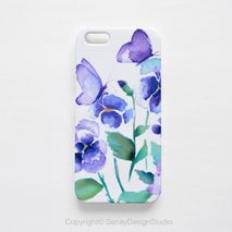 Pansies and Butterflies Smartphone Case