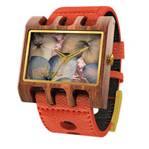 Lenzo Santa Elena Watch (Orange Pui / Black Flowers)