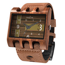Lenzo Watch (Brown Pui / Ebony)