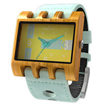Lenzo Watch (Mint / Teak / Neon Yellow)