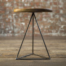 Pyramid Table & Stool - Iroko