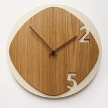 Clock 25 - Light Wood