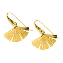 Yellow Gold-Plated Ira Bronze Earrings