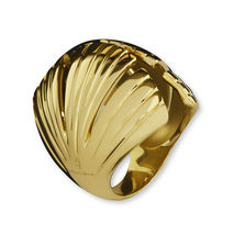Yellow Gold-Plated IRA Bronze Ring
