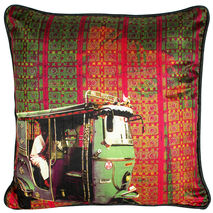 Classic Taxi Poli Dupion Cushion Cover