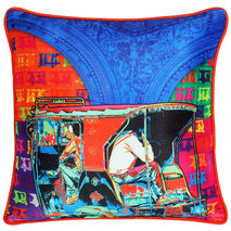Funky Taxi Poli Dupion Cushion Cover