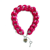 Chunky Chain Necklace – Fuchsia