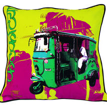 Green Taxi Cushion Cover