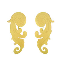 Gold-Plated Baroque Bronze Earrings
