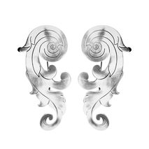 Silver -Plated Baroque Bronze Earrings