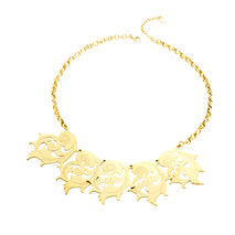 Gold-Plated Baroque Bronze Necklace