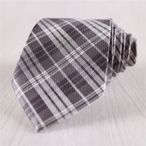 dark gray narrow plaid neckties for men formal business ties+n8