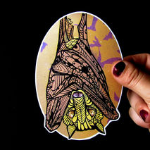 Bat Sticker Zentangle Decal