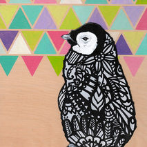 Penguin Zentangle Art Print