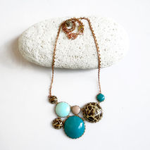 Leopard Bib Statement Necklace