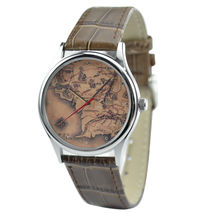 Middle Earth Map Watch in Silver