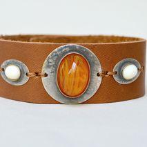 Leather Rustic Cuff Bracelet