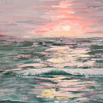 abstract seascape ocean sea artistic oil painting giclee PRINT t