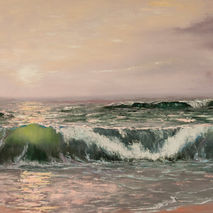 wave sea ocean seascape oil painting signed giclee PRINT reprodu