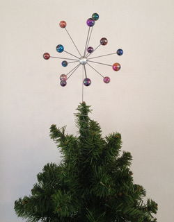 Atomic Molecular Christmas Tree Topper Star Burst Retro Modern