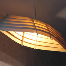 "WOODEN PENDANT LIGHT ""KALEVALA"""