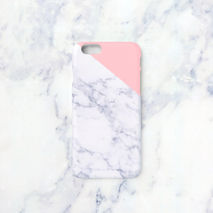 iPhone case - Indian pink edge marble, non-glossy M06