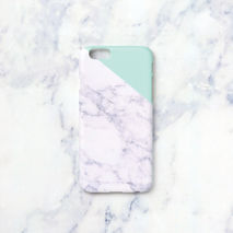 iPhone case - Melon Mint edge marble, non-glossy M07
