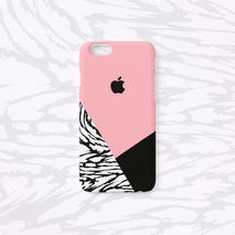 iPhone case - B&W Wild Pattern Layered, non-glossy M19