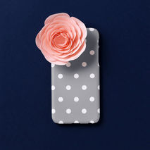 iPhone case - Chic Grey Dot, non-glossy M22