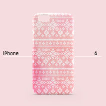 iPhone case - Pastel Pink Coral Aztec Tribal, non-glossy C03