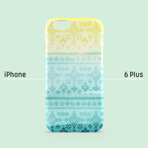 iPhone case - Pastel Blue Yellow Aztec Tribe, non-glossy C04