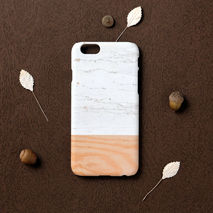 iPhone case - White Marble wood pattern, non-glossy C11
