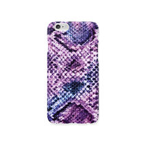 iPhone case - Violet boa snake skin pattern, non-glossy C13
