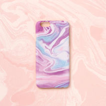 iPhone case - Violet Lilac Color Marbling, non-glossy D11