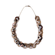 Pastel Chain Link Necklace, Chunky Chain Bib Necklace