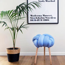 Knot Stool (Light Blue)
